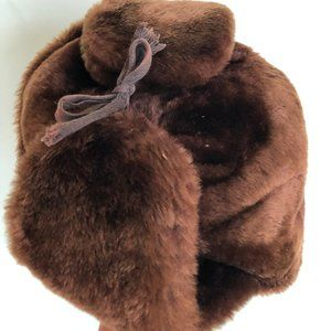 Vintage Russian-made Fur Hat with ear flaps